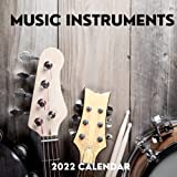 Music Instruments 2022 Calendar: January 2022 - December 2022 Square Calendar Present | Music Instruments Lover Gift Idea For Men & Women | Photo Book Monthly Planner With UK Holidays