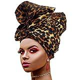 Ankara African Print Soft Headwraps Headband Long Hair Head Wrap Scarf Turban Tie Cotton Knit African head wraps