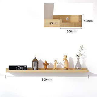 PLLP Wall Shelf, Decorative Racks,White Oak Partition, Multi-Functional Floating Wall Frame, Wall Mount, Safe and Environmentally Friendly, 40Cm / 60Cm / 80Cm / 120Cm,90Cm