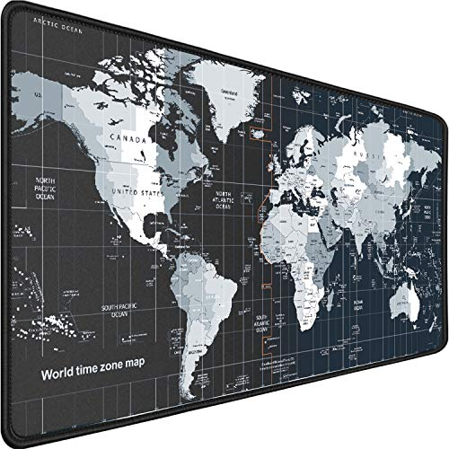 Larger Gaming Mouse Pad ,31.5'x15.7'x0.12' Durable Extended Large Desk Mat with Stitched Edges, Long XXL Premium-Textured Cloth Mouse Mat,Non-Slip Base,Waterproof,Desk Mat for Gamer,Office,Home