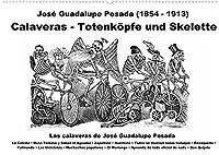 Calaveras - Totenkoepfe und Skelette (Wandkalender 2022 DIN A2 quer): Tag der Toten und Halloween (Monatskalender, 14 Seiten )