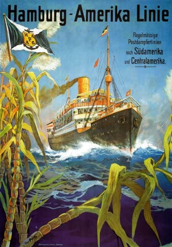 TX230 Vintage American Line Hamburg Shipping Cruise Travel Poster A2//A3//A4