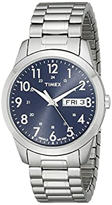 Timex Men's T2M933 South Street Sport Blue/Silver-Tone Stainless Steel Expansion Band Watch