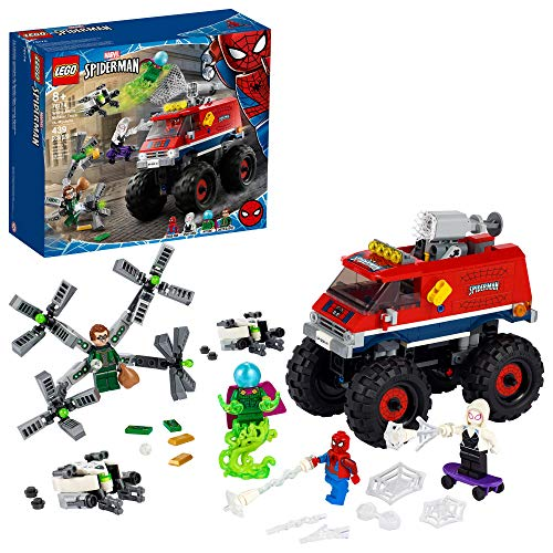 LEGO Marvel Spider-Man: Spider-Mans Monster Truck vs. Mysterio 76174; Cool, Collectible Birthday Gift for Kids, New 2021 (439 Pieces)