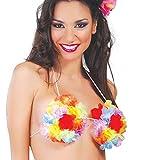 FIESTAS GUIRCA Sujetador Hawaii con Flores Talla única Hawaiana