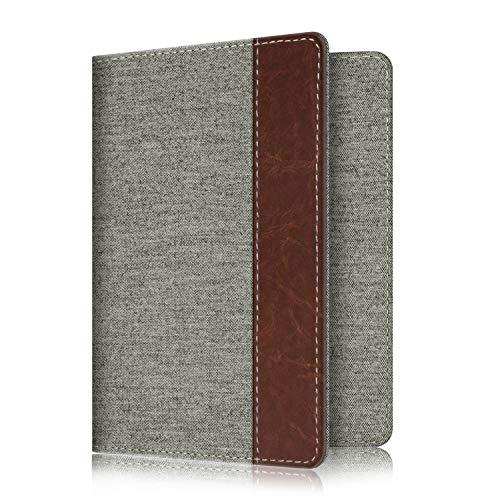 Fintie Passport Holder Travel Wallet RFID Blocking PU Leather Card Case Cover, Denim Grey