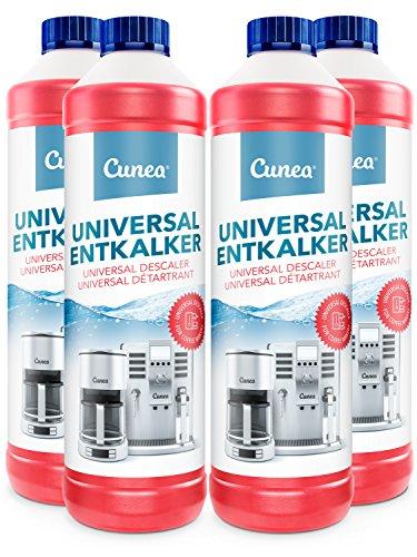 Universal Entkalker für Kaffeemaschine & Kaffeevollautomat Wasserkocher 4x 750ml - kompatibel mit allen Herstellern und Geräten