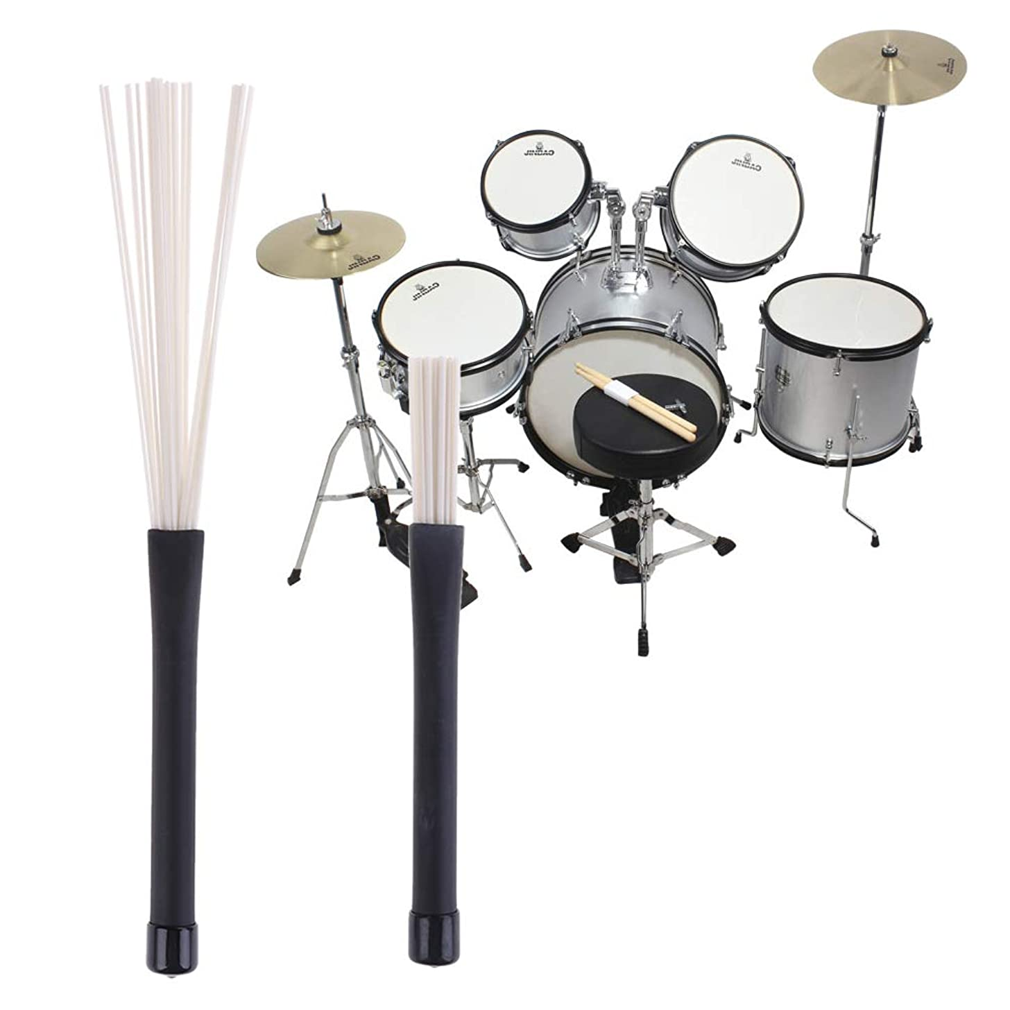 1PC Retractable Nylon Bristle Jazz Drum Sticks Drum Brushes Drum Sticks Percussion Drumstick, for Students and Adults