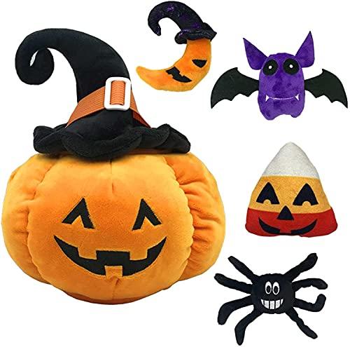5 Piezas De Juego De Peluche De Calabaza De Halloween, Incluidos Los Juguetes De Peluche De Luna Spider Moon, Adecuados para La Decoración De La Fiesta De Halloween Familia