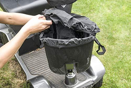 Mobiliteitshulp mand tas liner & afdekking zwart handgrepen voorzijde waterbestendig