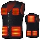 Elivespm - Chaleco térmico eléctrico para hombre y mujer, con 7 almohadillas térmicas para exteriores, senderismo, motocicleta, chaleco calefactable, para climas fríos, invierno, caza (M)