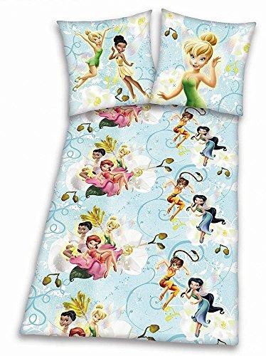 Biber/Flanell Disney Fairies Tinkerbell Bettwäsche Set 135x200cm 80x80cm 100% Baumwolle 461807050