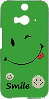 [FFANY] HTC J butterfly HTL23 用 すまほケース ハードケース [smile・グリーン] ウインク キャップロゴ スマイル ニコちゃん柄 エイチティーシー ジェー バタフライ au 楽天モバイル ワイモバイル すまほ...