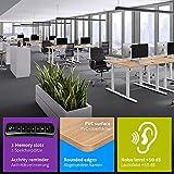 eSmart Germany elektrisch höhenverstellbarer Schreibtisch | Mit Holz-Tischplatte aus Ahorn Dekor und Tischgestell | 120 x 60 cm - 3