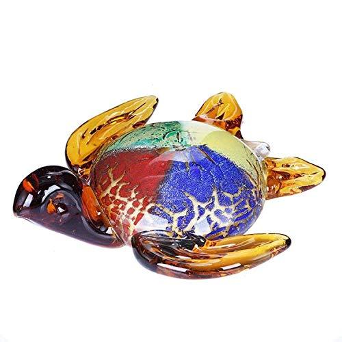 BBKX estatuas Jardin Decoración Creativa de Cristal de Tortuga, Armario de Vino para Sala de Estar, Armario de TV, decoración de Cristal de Tortuga, Regalo de Año Nuevo