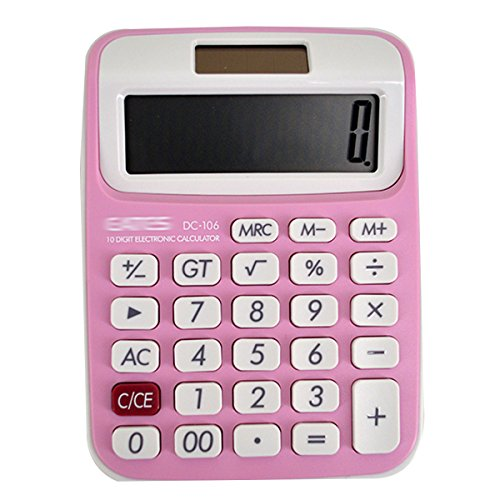 Clara Home Office School Use Calculator Portable Calculator Large LCD Display Calculator(Pink)