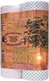 Wirta Bamboo Paper Towels (50 Sheets) - Heavy Duty Eco Friendly Machine Washable Reusable Bamboo Kitchen Towel Rolls Saves Environment and Gives Paper Supply for 12 months!