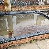XWZJY Black Pond Liner Teichhäute HDPE-Teichprodukte für Koi-Teiche Bäche Brunnen Wassergarten, Teichbedarf, mehrere Größen