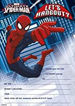 personalised photo paper card party invites invitations SPIDERMAN SPIDEY #3