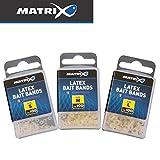 Fox Matrix Latex Bait Bands - 100 Gummiringe zur Köderbefestigung, Fixierung von Dumbell Boilies &...