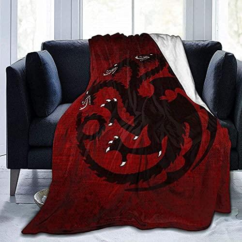 AQEWXBB Game of Throne, coperta con motivo di trono di spade, super morbida, antirughe e delicata sulla pelle, 135 x 200 cm