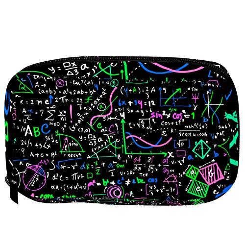 Neceser de Maquillaje Estuche Escolar para Cosméticos Bolsa de Aseo Grande Educación matemática Lineal aritmética