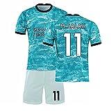 GYLMXF Liverpool 2021 Camiseta de fútbol n. ° 11 Camiseta de Salah Conjunto Camiseta para Padres e Hijos de Local y visitante