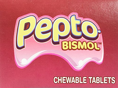 Pepto-Bismol BXPB25 Tablets, Two Tablets per Pack, 25 Packs/Box