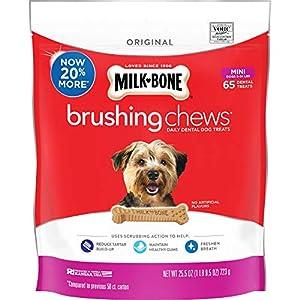 Milk-Bone Brushing Chews Daily Dental Dog Treats, Mini, 65 Count