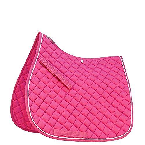 Roma Grand Prix hoher Widerrist Schabracke (Pony) (Pink/Weiß)