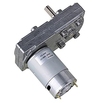 BQLZR 12V No-load Speed Metal Square Low Speed High Torque Geared Motor Electric Drive Motor for Automatic Actuator