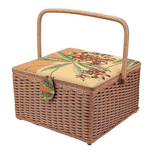 Read About Zerone Sewing Basket,Super-Large European Sewing Storage Case Hand-Made Knitting Tool for Household Embroidery