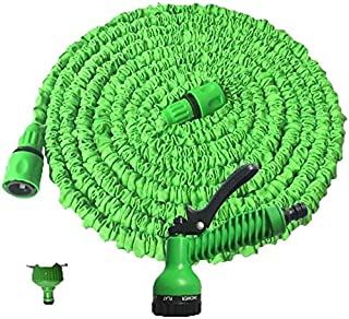 Expandable Garden Hose, Latex Core Hose With Nozzle Garden Hose For Outdoor Lawn Car Wash Watering Equipment Expandable ho...