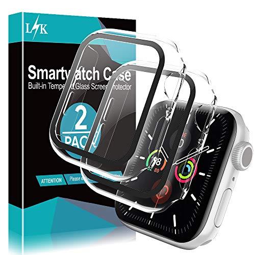 L K 2 Pezzi Custodia+Protezione Schermo per Apple Watch 40mm Serie 4 5 - Cover Compatibile per iWatch Full Protettivo TPU Caso 40mm