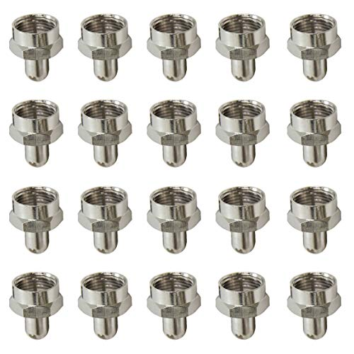 終端抵抗器 ダミー抵抗 キャップ F型 wuernine 20個セット テレビアンテナ分配器 分波器 増幅器 壁コンセント 同軸ケーブルなどの空き端子用対応75Ωプラグ無反射終端器