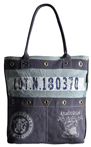Sunsa Damen Tasche Handtasche Shopper Schultertasche Tote große Handgelenktasche Henkeltasche Damentasche Canvastasche Weekender Retro Vintage Design Canvas Leder Umhängetasche groß Tragetasche