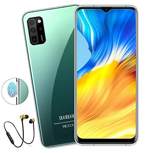 Smartphone Offerta del Giorno 4G, DUODUOGO S20 Cellulari Offerte 6.6    HD Android 10 Octa-Core 2.5GHz 6GB RAM 64GB 256 GB Espandibile Economici Cellulare Mobile 2250 * 1440 Face ID Dual WIFI (Verde)