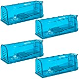 Kat Sense Humane Mouse Traps, Pack of 4, Cruelty Free Live Trap, Catch and Release Mice, Chipmunks into The Wild, Ideal No Kill Smart Trapper House Cage for Pest Control Solutions