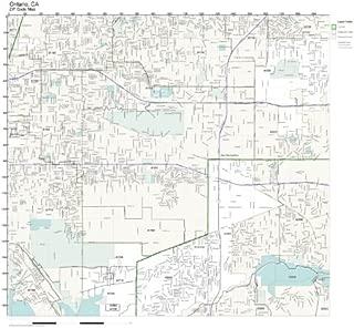 Working Maps Zip Code Wall Map of Ontario, CA Zip Code Map Laminated