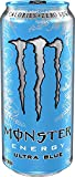 Monster Energy Ultra Zero Sugar Energy Drinks 16 ounce cans (Ultra Blue, 12 Cans)