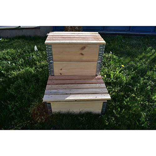 Multitanks – Compostiera evolutiva in legno naturale da 192 litri, 800 x 600 mm
