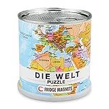 Extragoods Puzzle de imanes del mundo en alemán