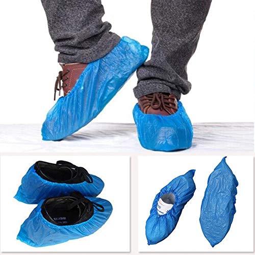 cA0boluoC 100 piezas desechables zapatos cubierta y protector, impermeable para el hogar a prueba de polvo para el hospital de laboratorio, multicolor