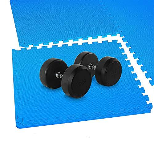 Schutzmatten Set - 8 STÜCK 50 x 50cm , Puzzlematte Bodenschutz Matte, Yogamatten Gymnastikmatten Unterlegmatten für Pool Puzzlematten Trainingsmatten Pilatesmatten für Fitnessgeräte
