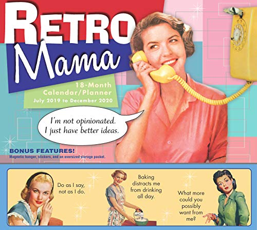2020 Retro Mama 18-Month Wall Calendar/Planner: By Sellers Publishing