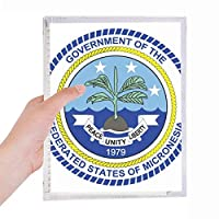 ミクロネシア国章 硬質プラスチックルーズリーフノートノート