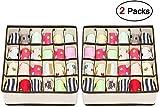 joyoldelf - Scatola a Scomparti, Pieghevole per cassetti, 2 Confezioni, 24 scompartimenti,...