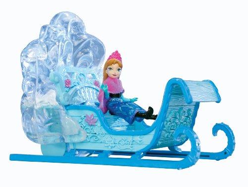 Disney Princesses - Y9979 - Poupée - Mini Princesse Anna et Son Traineau des Neiges