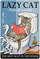 レトロおかしい金属錫サイン8 x 12インチ(20 * 30 cm)子猫 ブリキ看板警告通知パブクラブカフェホームレストラン壁の装飾アートサインポスター(gs-1-216)