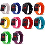 Weicam 10 Pack Unisex Teen Girls Boys LED Wrist Watch Silicone Student Electronic Sports Watch Bracelet Wholesale Watches